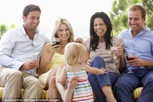 Are you watching your kids while you're drinking?